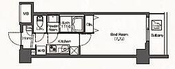 JR埼京線 板橋駅 徒歩6分の賃貸マンション 6階1Kの間取り