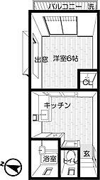 ときわ荘[103号室]の間取り