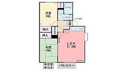 福岡県糸島市浦志3丁目の賃貸アパートの間取り