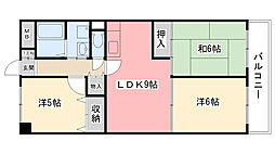 園民マンション[205号室]の間取り