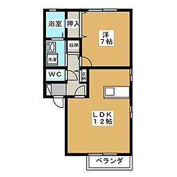 パレット B[1階]の間取り