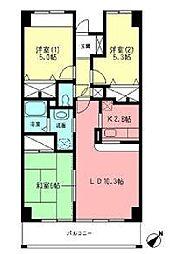 アルデールマンション[402号室]の間取り