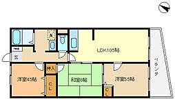 兵庫県神戸市垂水区西舞子6丁目の賃貸マンションの間取り