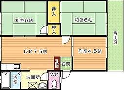 フローレス華[1階]の間取り