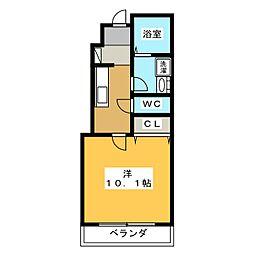 仮)蘇原寺島町M様新築アパートII[1階]の間取り