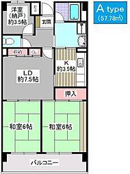 敷島プラザ[303号室]の間取り
