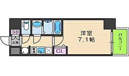 プレサンス京町堀 5階1Kの間取り