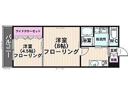 福岡県福岡市南区寺塚2丁目の賃貸アパートの間取り