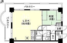 和室6畳 LDK約18畳