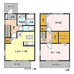 [テラスハウス] 東京都府中市住吉町3丁目 の賃貸【/】の間取り