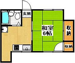 東京都世田谷区代沢3丁目の賃貸アパートの間取り