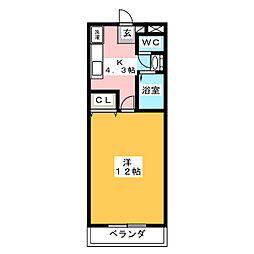 ピア・ウィステリア[2階]の間取り