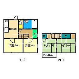 [一戸建] 高知県高知市仁井田 の賃貸【/】の間取り