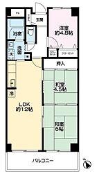 サニータウン羽倉崎3番街[302号室]の間取り