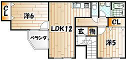 プロヴァンス赤坂[2階]の間取り