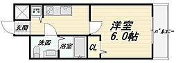 大阪府大阪市天王寺区北河堀町の賃貸マンションの間取り