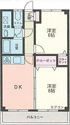 サニーガーデン2[1階]の間取り