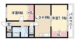 愛知県名古屋市緑区青山2丁目の賃貸マンションの間取り