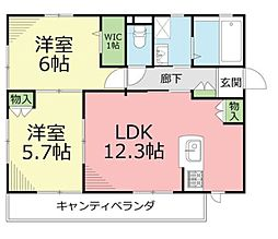 仮)土棚メゾン[2階]の間取り