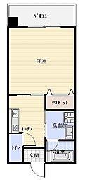 沖縄都市モノレール 市立病院前駅 徒歩10分の賃貸アパート 2階1Kの間取り