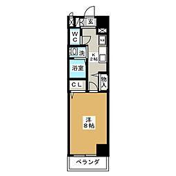 クレド桜山[8階]の間取り