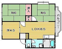 ラフィーネII[2階]の間取り