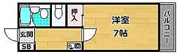 レスポワール太田[4階]の間取り