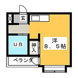 磐田グレイス第3マンション[4階]の間取り