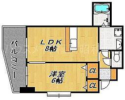 リバティ高砂六番館[5階]の間取り