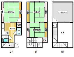 [一戸建] 高知県高知市帯屋町1丁目 の賃貸【/】の間取り