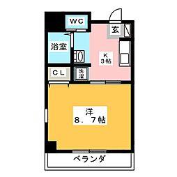 シャトーボナールII[4階]の間取り