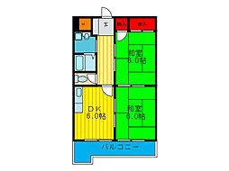 グレイス歌島[4階号室]の間取り