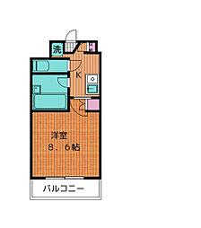 ヌヴェルハイツ[2階]の間取り