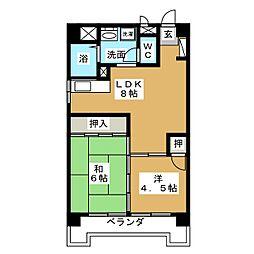 丸の内カジウラマンション[8階]の間取り