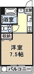 緑山荘B棟[305号室号室]の間取り