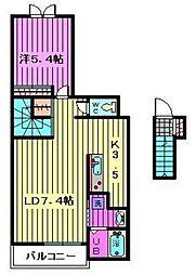 エレガントクロスローズII[2階]の間取り