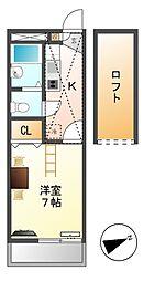 レオパレスクレールエム[1階]の間取り