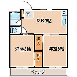 ダイワマンション[302号室]の間取り