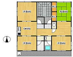 メゾンオオツカB[3階]の間取り