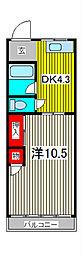大辰マンション[4階]の間取り