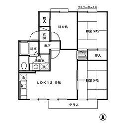 神奈川県逗子市桜山7丁目の賃貸アパートの間取り