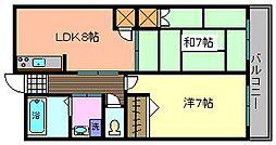 トリニティー加美東[705号室]の間取り