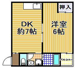 コーポ千島[2階]の間取り