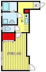 都営三田線 板橋本町駅 徒歩4分の賃貸アパート 3階1Kの間取り