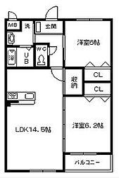 アイズタウン 松阪市小野江町[1階]の間取り