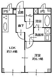 東京駅まで直通・3沿線利用可能・JR蘇我駅徒歩14分 高山ビル[1階号室]の間取り