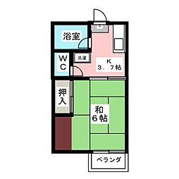 ヨシレジデンス[2階]の間取り