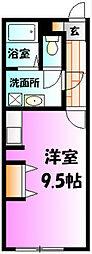 神奈川県小田原市城山2丁目の賃貸アパートの間取り
