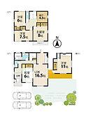 大和ハウスの家。4SLDKとはなれのオール電化住宅です。