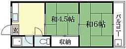 川村ハイツ[2階]の間取り